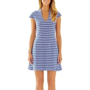 Lilly Pulitzer Blue & White Striped Bree dress